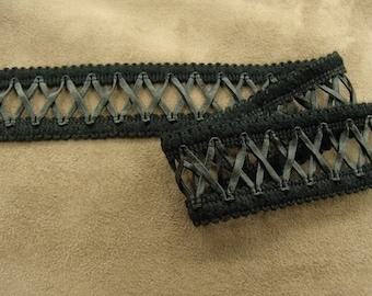 LACE cotton-2, 5 cm - black