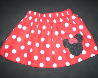 Minnie Mouse Red Skirt