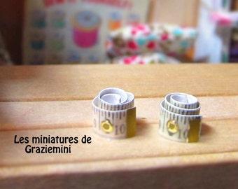 Miniatures measuring tape x 2 - scale 1:12-Dollhouses miniatures