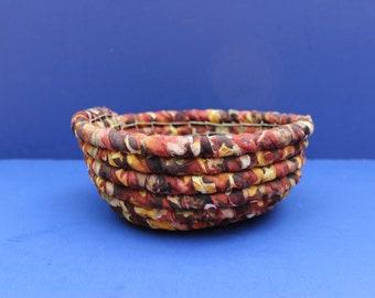 Fabric Coiled Basket/Catch all Basket/Sewing Basket/Trinket Basket/Candy Basket