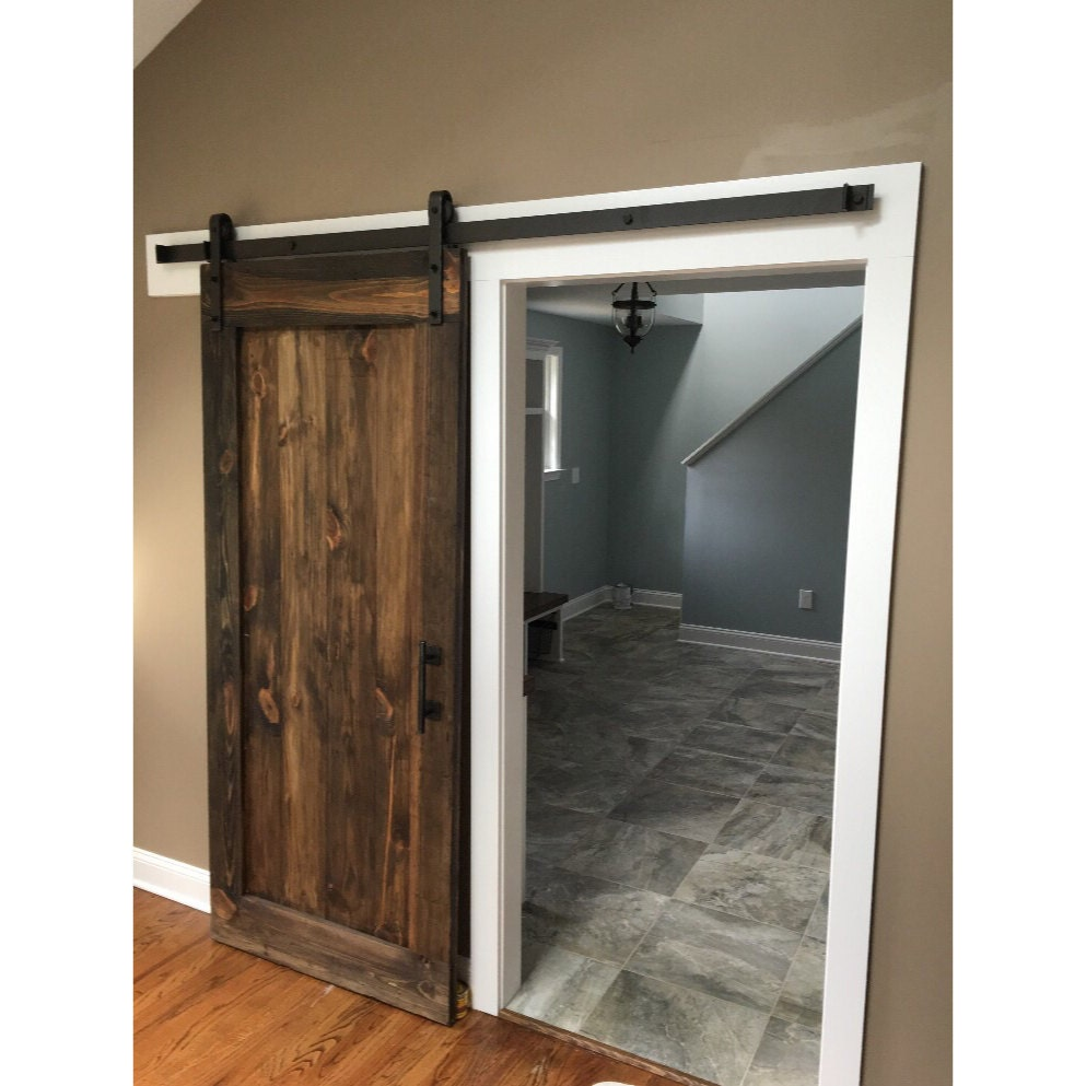 Single Panel Rustic Sliding Barn Door by
