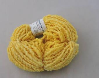 Hand Spun Elastic Yarn Kid Mohair Shetland Golden Yellow 16-4-43
