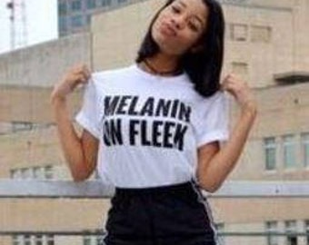 melanin on fleek / Mommy and me black girl melanin t shirts/ Black girl rocks