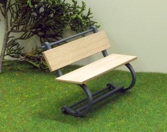 1:12 scale BENCH ,Patio / Garden Furniture,Modern Style Design , DOLLHOUSE MIiniature