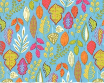 Moda Wing & Leaf by Gina Martin Wing Periwinkle 10061 15 - Quilt, Quilting, Clothing, Crafts