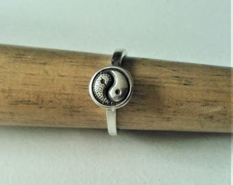Sterling Silver Ying Yang Ring