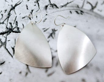 Triad // Bold Sterling Silver Earrings