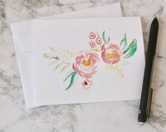 Floral Stationery - Set of 3
