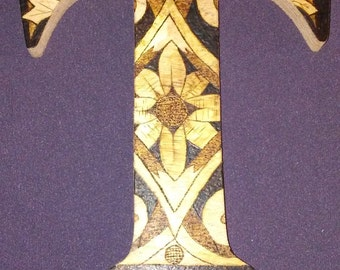 Decorative Spanish Tile Style Letter T