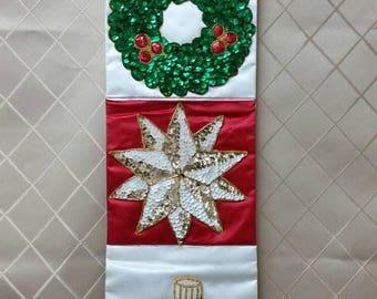 Christmas Card Sequin Card Holder