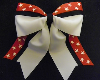 Red and White Stars Hairbow