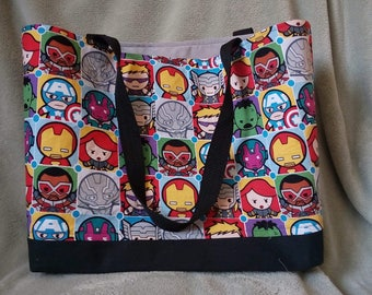 Mini Figure Superhero Inspired Tote