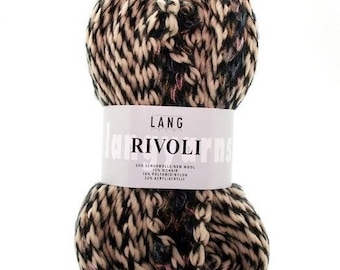 beautiful LANG YARNS RIVOLI black/beige/pink wool Pincushion 100 gr