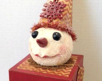 Paper Mache Box, Snowman, Gift Box, Papier Mache