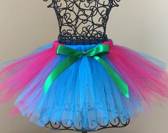 Princess Poppy costume- Princess Poppy tutu- Princess Poppy birthday- trolls costume- trolls birthday