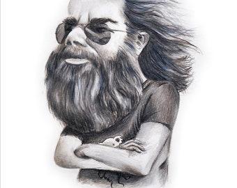 Jerry Garcia Caricature