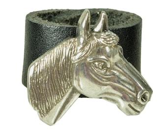 "Leatherring ""horse head"""