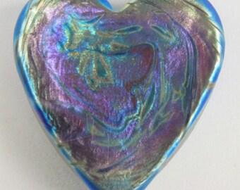 Iris Gold Heart Paperweight