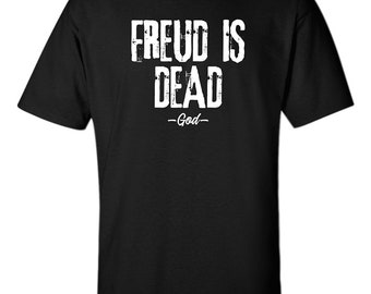Freud T-Shirt Funny Pink Your Mom God Is Dead Quote Humor Slogan Your Mother Psychology Men Tee 5 Colors S-XXL