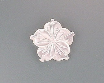 14mm carved white shell flower gem stone gemstone