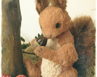 PDF File For 6.5 Inch Sewing Pattern Squirrel