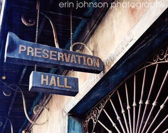 new orleans photography french quarter art architecture jazz music decor brown decor Preservation Hall