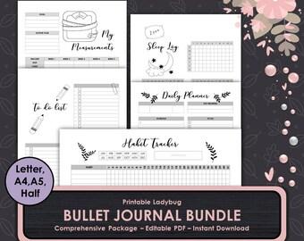 Bullet Journal,Printable Bullet Journal,Graph Paper,Dot Grid,Bullet Journal Notebook,Printable Bullet Journal,Bullet Journal Template