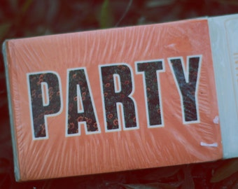 Vintage 1980s Party Invitations and envelopes -- set of 8