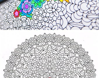 Mandala Coloring Page - Core of Life - printable coloring page for mindfulness coloring, art therapy and fun!