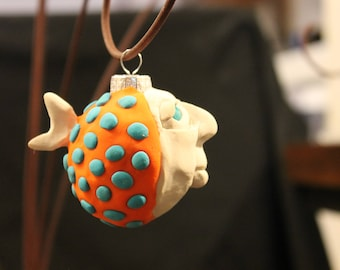 One of a kind Fish Head Ornament