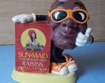 Vintage California Raisin Bank from 1987 Sun Maid Raisins Advertising Campaign, I Heard it Through the Grapevine