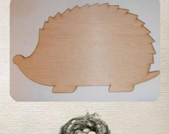 Hedgehog  Wood Cut Out - Laser Cut