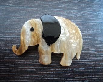 Celluloid ELEPHANT brooch
