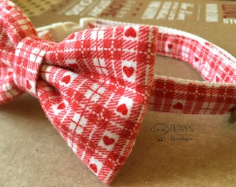Valentine Pink Bow Tie and Collar