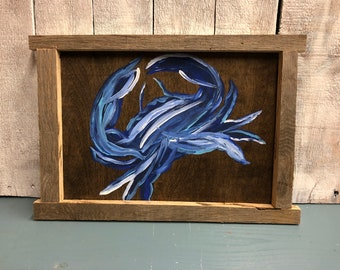 Hand Painted Blue Crab