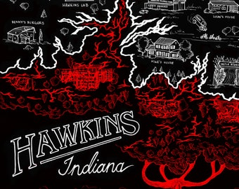 Stranger Things Map of Hawkins - Digital Download