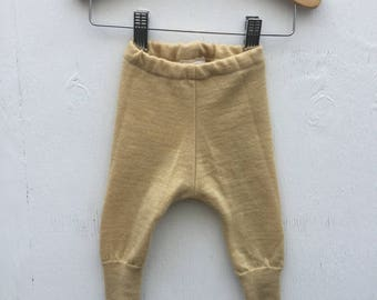 0-3  Wheat Merino wool pants