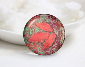 Leaf Photo Glass Cabochons (P3764)