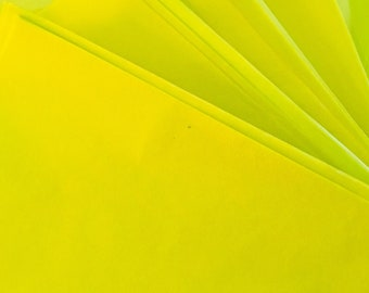 Lime Green Tissue Paper - 75cm x 50cm - premium quality - acid free, colour run, bleed and fade resistant - weddings, crafting, gift wrap