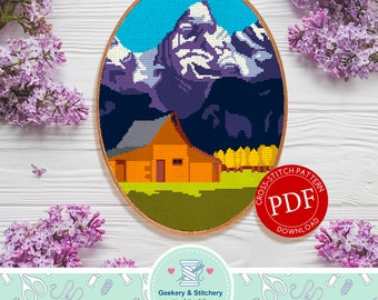 Grand Teton | Digital Download | Cross Stitch Pattern |