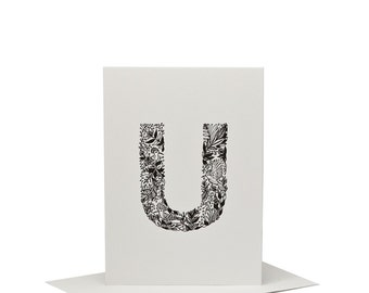 U for Upupa - Letterpress Print