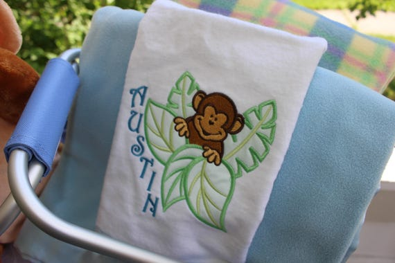 Personalized little monkey baby gift set personalized baby like this item negle Gallery