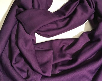 Infinity Scarf, Royal Purple Silky Knit