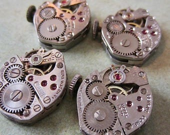 Steampunk watch parts - Vintage Antique Watch movements Steampunk - Scrapbooking L277