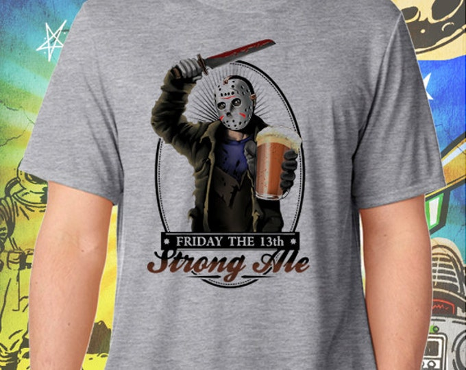 Friday the 13th / Jason's Strong Ale / Men's Gray Performance T-Shirt