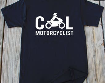 Motorcycle T-shirt Cool Motorcyclist Shirt Christmas Gift Fathers Day Gift Funny Motorcycle T-shirt