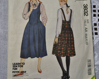 McCalls Sewing Pattern 3832 Misses Jumper Size AA 6 8 10 12 Fashion Clothing DIY  PanchosPorch