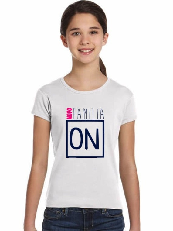 Girl t-shirt or body MODO FAMILIA ON in various colors