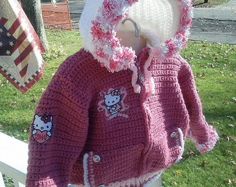 Hello Kitty Stadium Jacket Hoodie Baby to Toddler