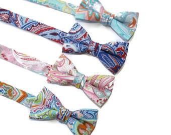 Boys Paisley Bow Ties~Boys Bow Tie~Boys Plaid Bow Ties~Cotton Bow Tie~Church Tie~Bow Tie~Wedding~Ring Bearer~Gift